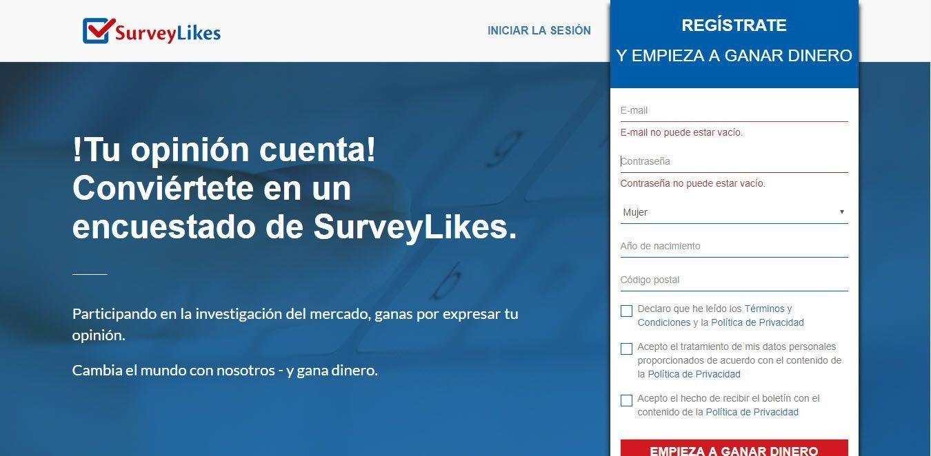 imagen destacada survey likes ▷ SurveyLikes ✅ 10 Paneles en 1 Única web |2.5€ Gratis| Encuestas