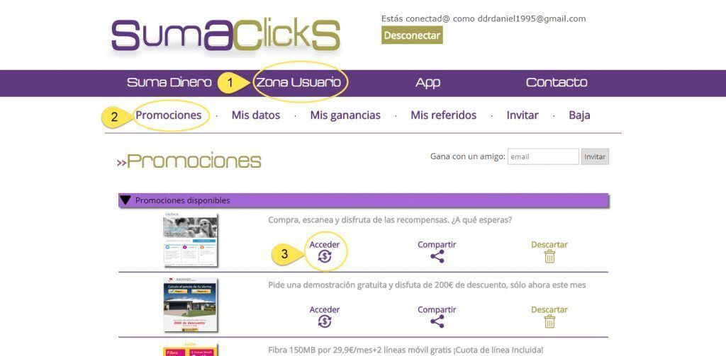 Como funciona Sumaclicks SumaClicks ⇨ Gana Dinero Leyendo Mails ¿Es Confiable y Paga? Ganar dinero Gratis Tareas y Mini-trabajos