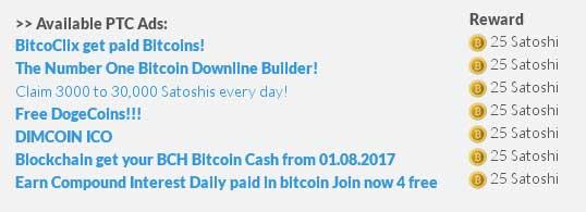 anuncios disponibles en CoinAdder ▷ CoinAdder   Gana 125 Satoshis diarios con esta PTC   Ganar Criptomonedas Gratis