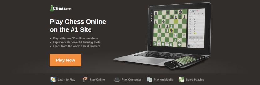 página de inicio de chess.com
