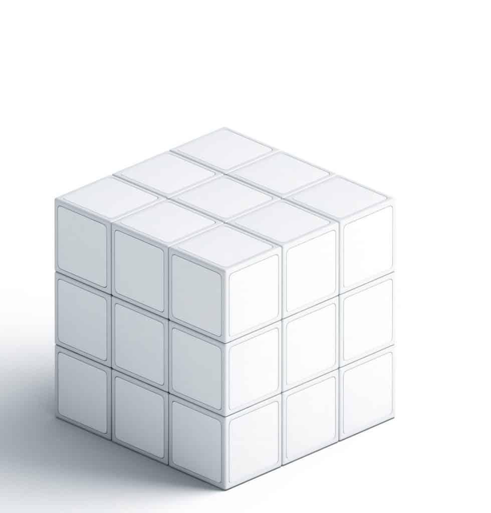 cubo de rubix impresión 3d