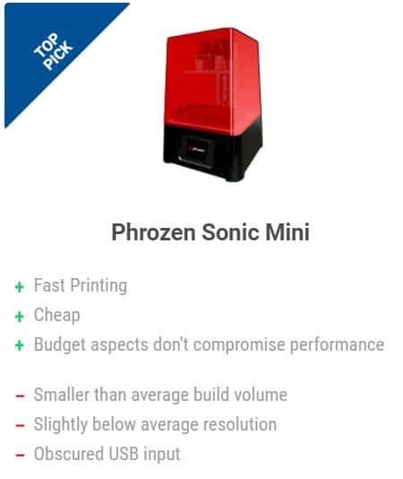 mini impresora 3d ph frozen sonic