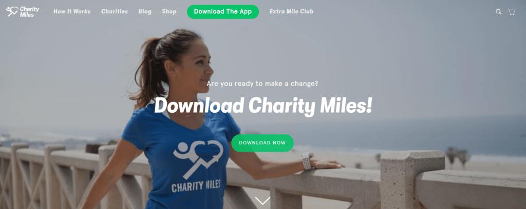 Aplicación Charity Miles