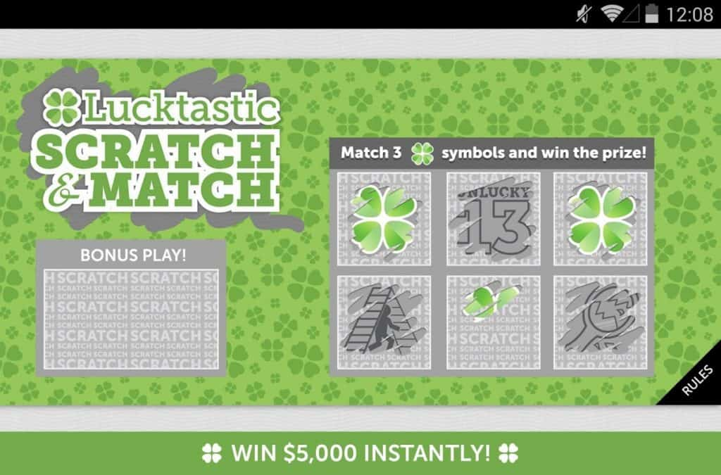 lucktastic scratch card where you can play games to earn paypal money instantly