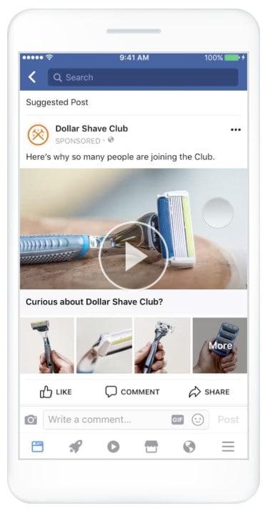 ejemplo de cómo cobrar por publicar anuncios en Facebook