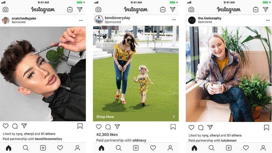 Ejemplo de Instagram de cómo ganar dinero con publicidad para empresas